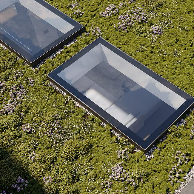 ECO Fixed + Upstand (DG) Rooflight 800mm x 3000mm