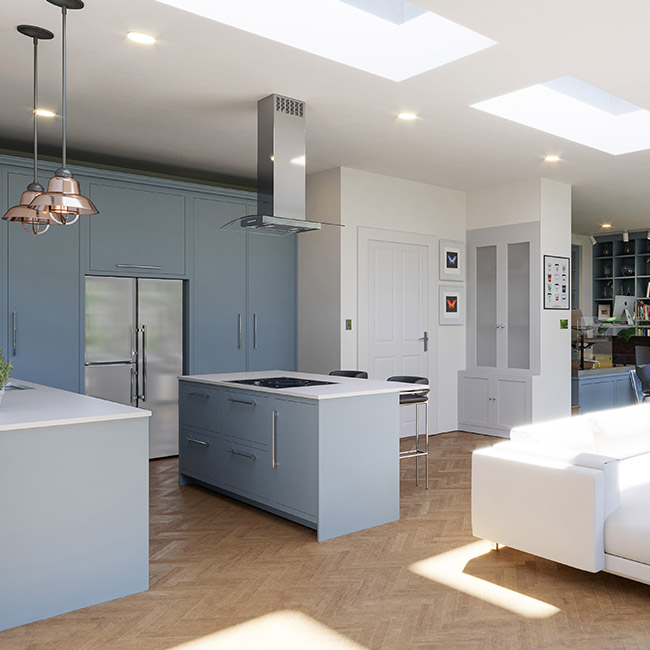 ECO Fixed + Upstand (DG) Rooflight 800mm x 800mm