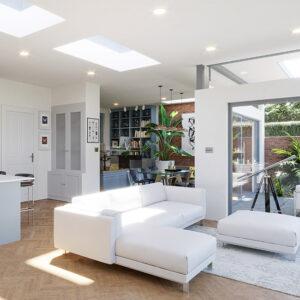 ECO Fixed + Upstand (DG) Rooflight 600mm x 2400mm
