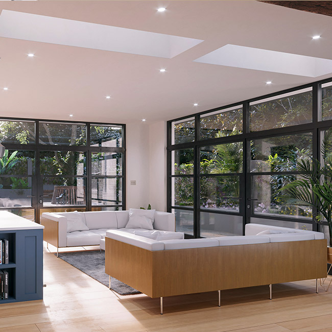 ECO Fixed + Upstand (TG) Rooflight 650mm x 2000mm