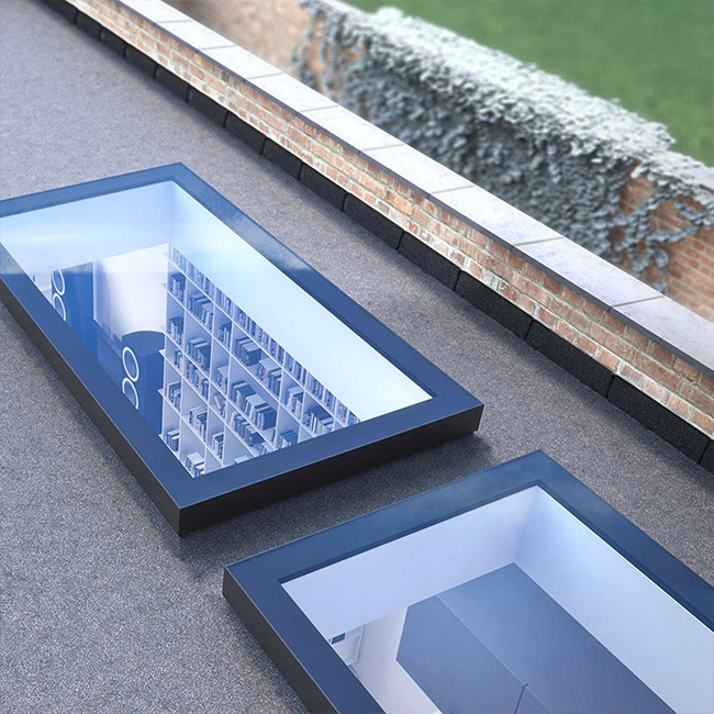 ECO Fixed + Upstand (DG) Rooflight 1000mm x 2000mm