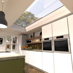 ECO Electric Opening Rooflight 1000mm x 2500mm