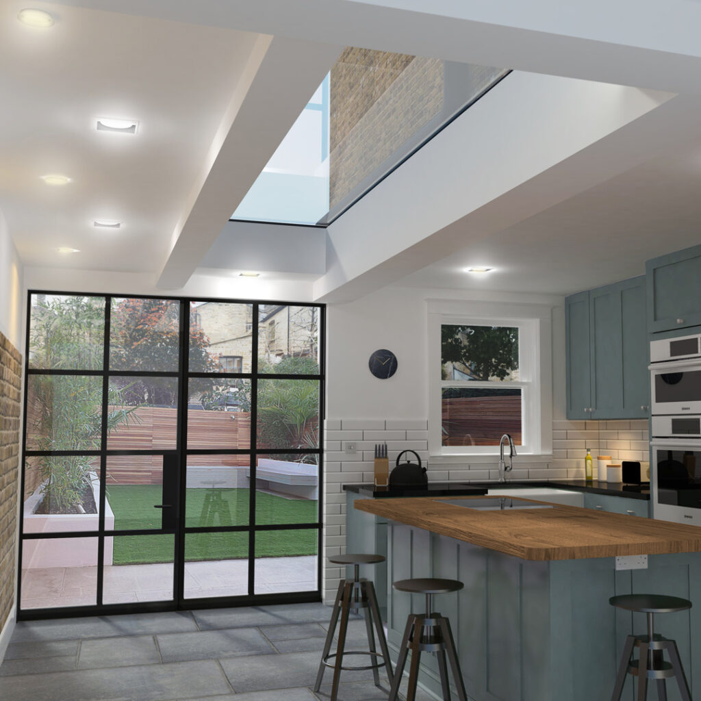 ECO Fixed + Upstand (TG) Rooflight 1000mm x 2500mm