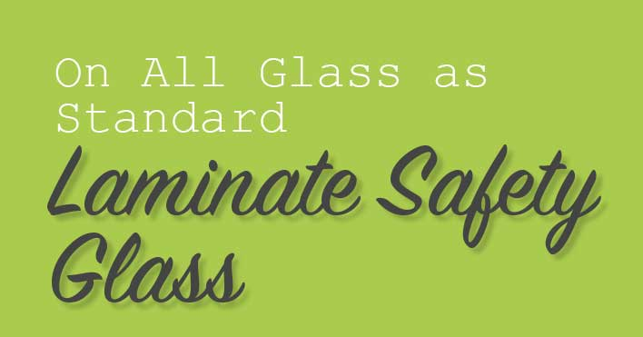 Laminate saftey glass in all rooflights
