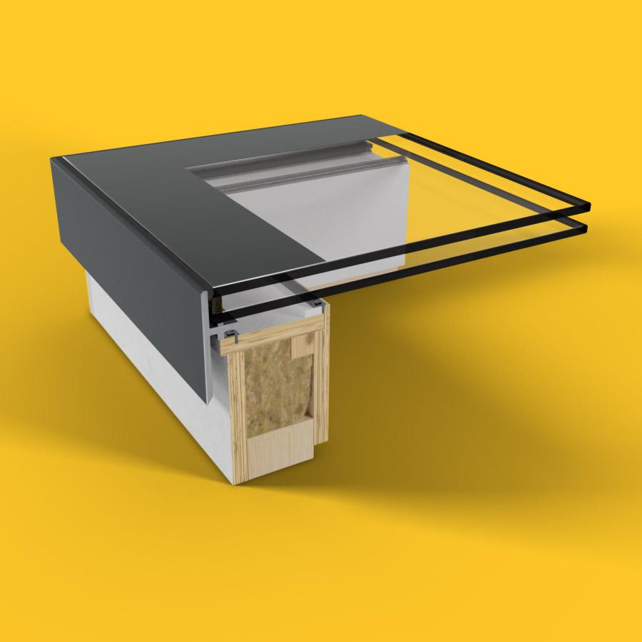 ECO Fixed + Upstand (DG) Rooflight 650mm x 650mm