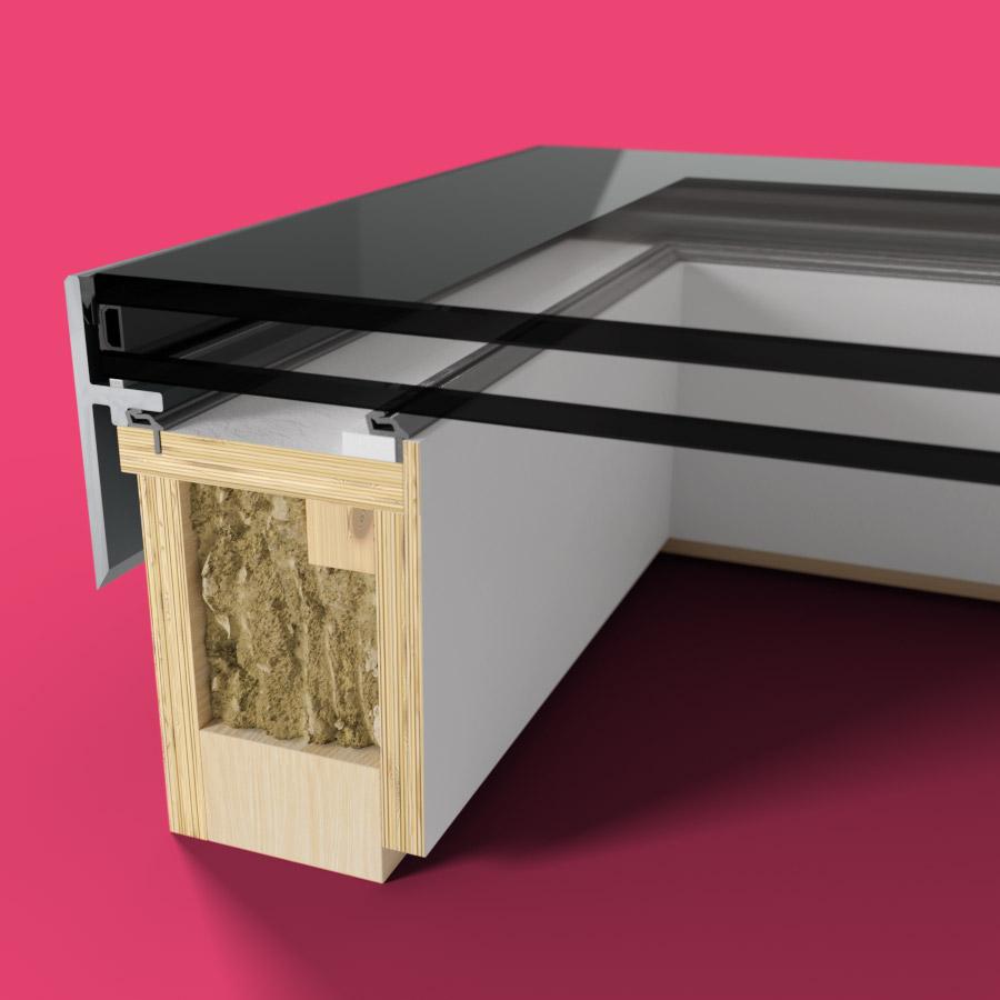 ECO Fixed + Upstand (DG) Rooflight 1000mm x 2500mm
