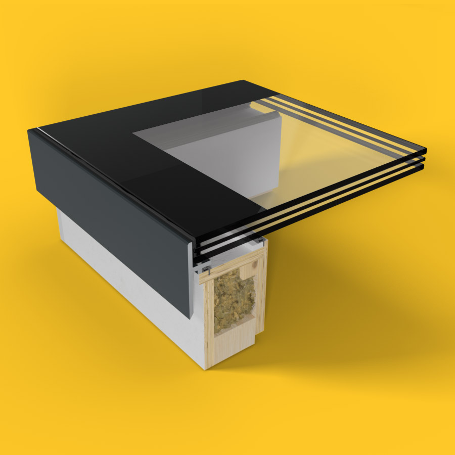 ECO Fixed + Upstand (TG) Rooflight 650mm x 2500mm